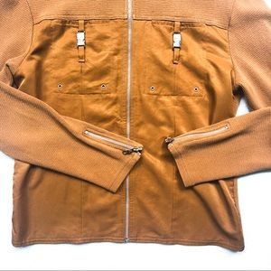 Coldwater Creek Jackets & Coats - Coldwater Creek Lightweight Camel Moto Jacket